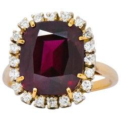 J.E. Caldwell Contemporary 6.30 Carat Rubellite Diamond 14 Karat Gold Ring