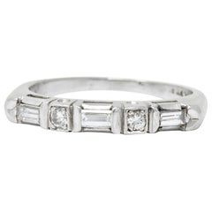 Art Deco 0.30 Carat Diamond Platinum Band Ring