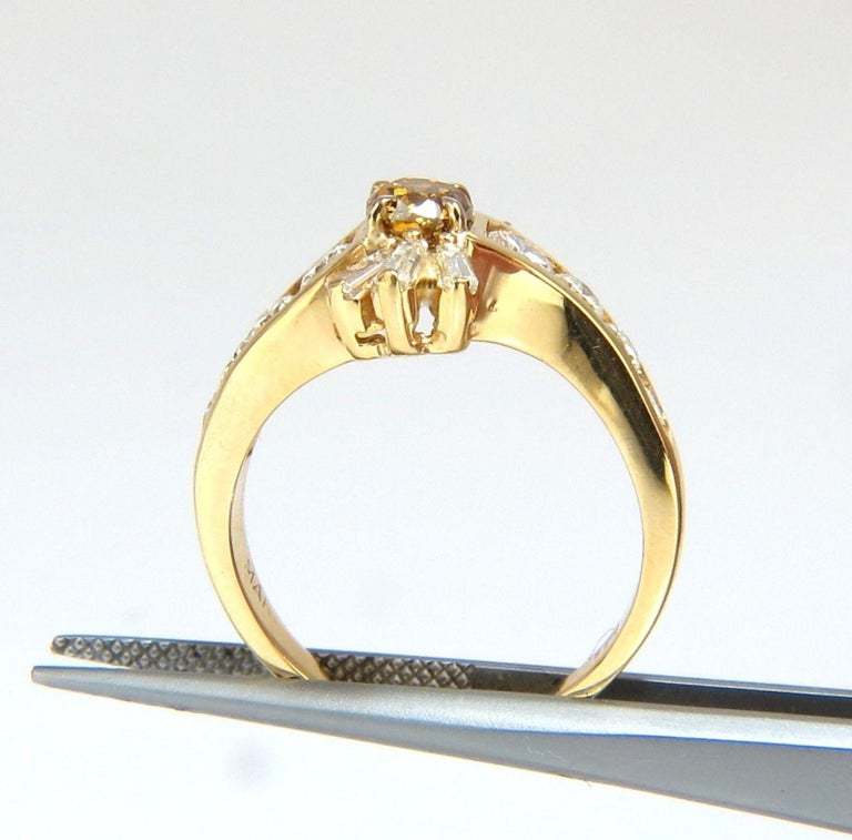 1.62 Carat Natural Fancy Color Diamond Ring 14 Karat In New Condition For Sale In New York, NY
