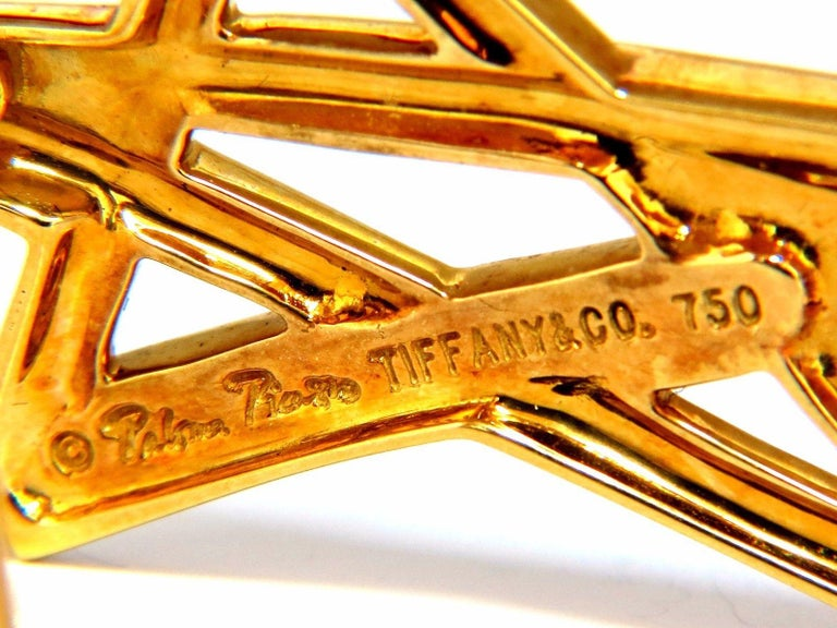 Tiffany & Co. Authentic 18 Karat Paloma Picasso Shooting Star Pin In Excellent Condition For Sale In New York, NY