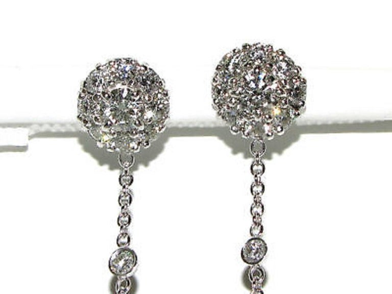 Black White South Sea and Tahitian Pearl Diamond Earrings Cluster For Sale 4