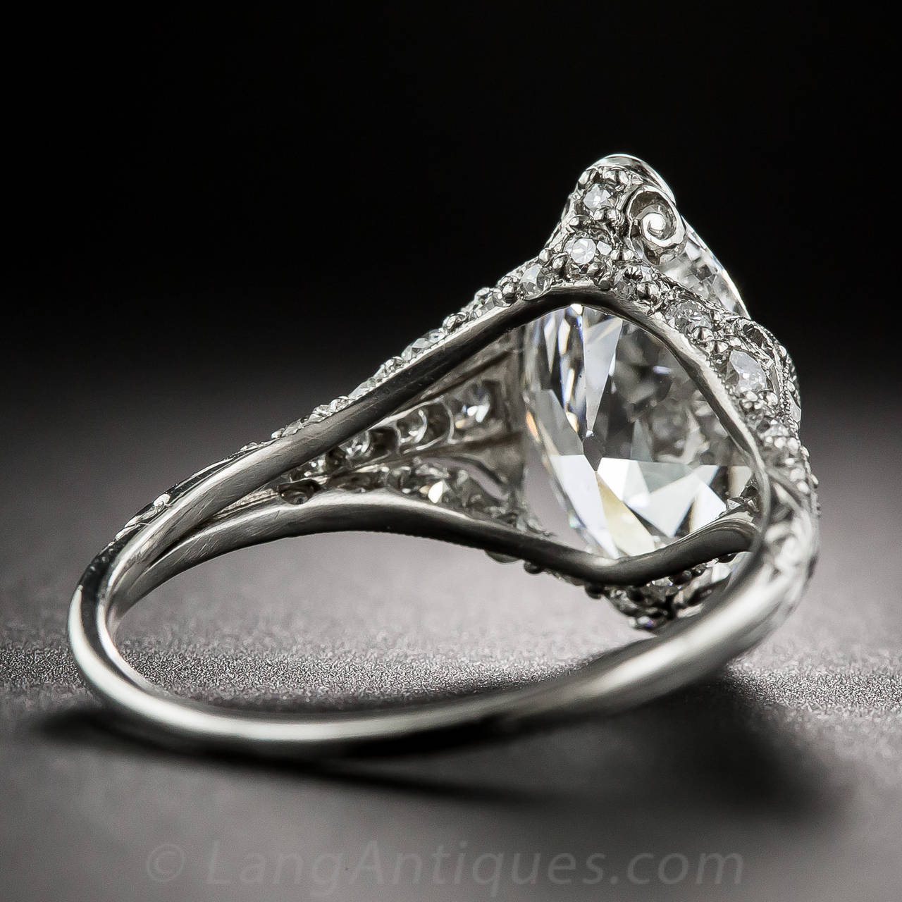 Tiffany & Co. Edwardian 3.14 Carat Marquise Diamond Platinum Ring 5