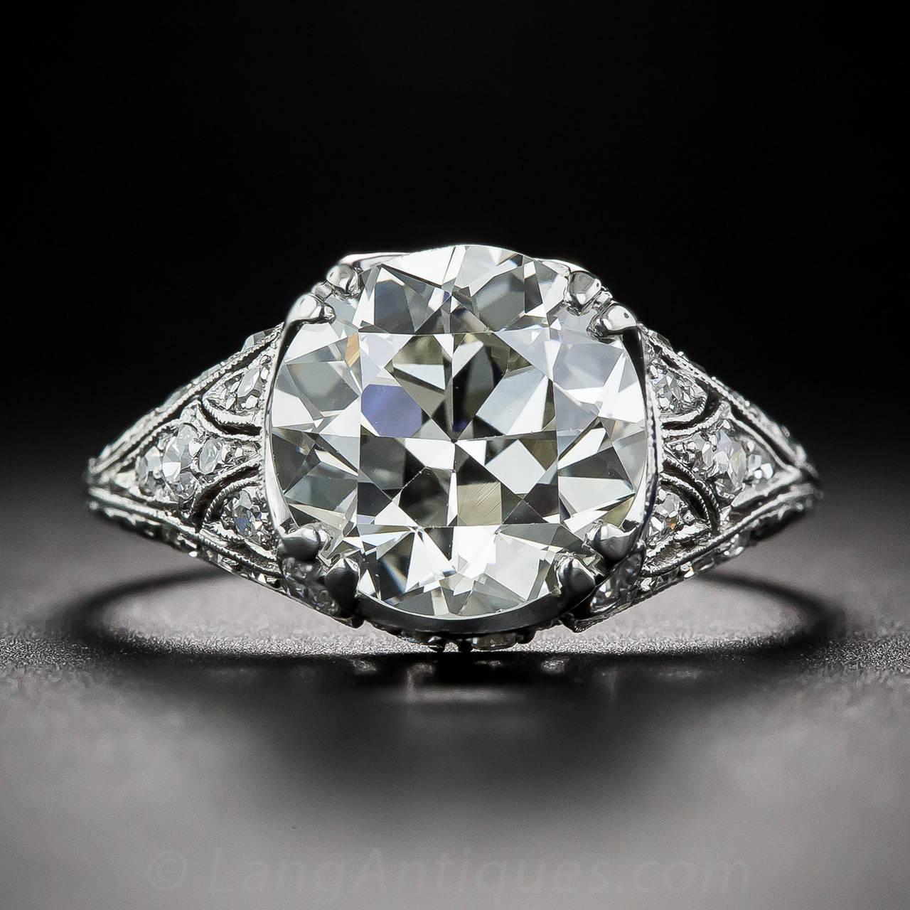Art Deco 3 10 Carat Calibre Sapphires Diamond Platinum