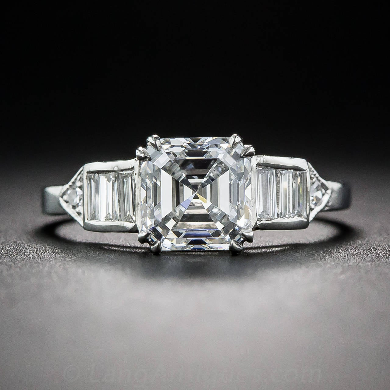 1 50 Carat GIA D VS1 Asscher Cut Diamond Platinum Ring at 1stdibs