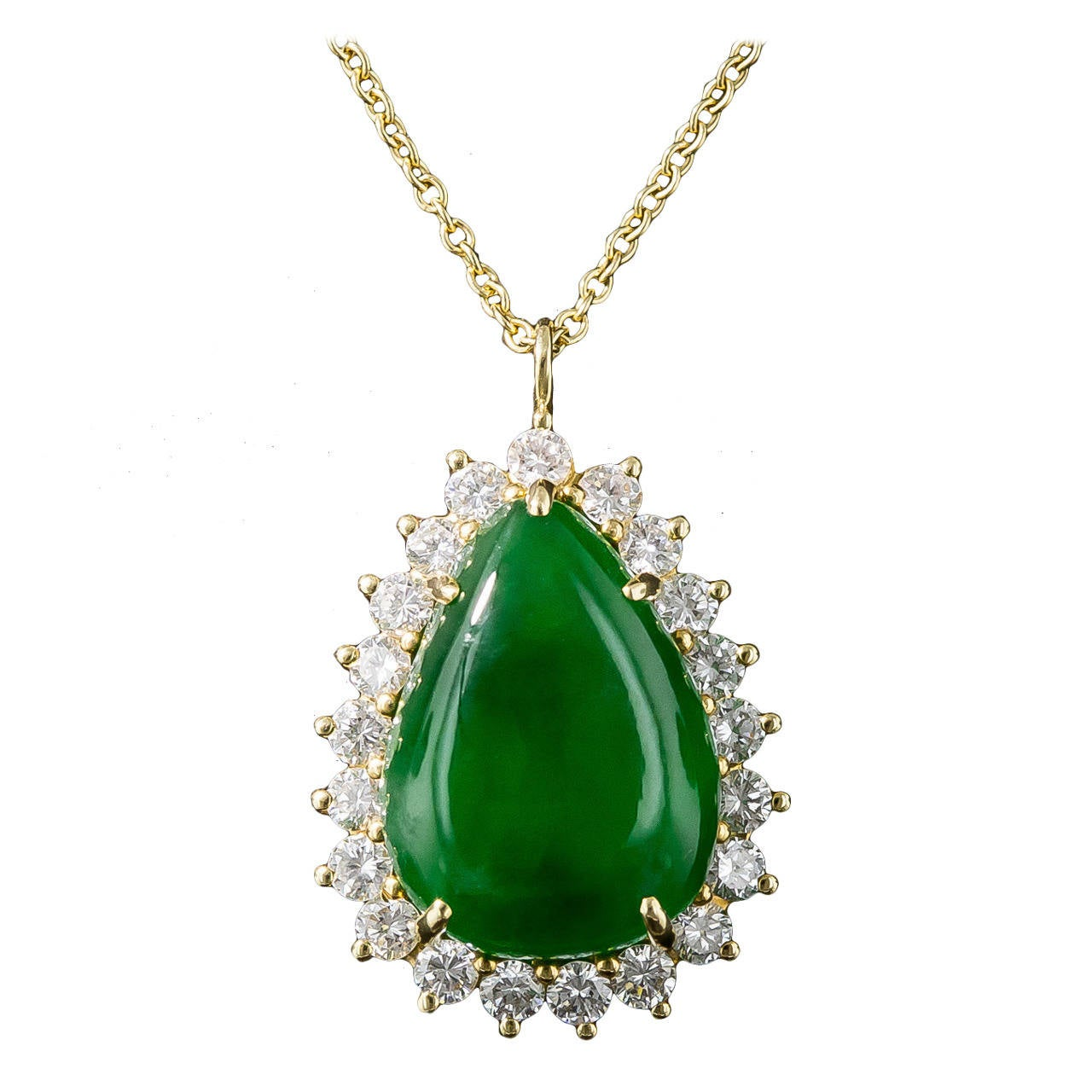 Tiffany And Co Jadeite Diamond Pendant At 1stdibs