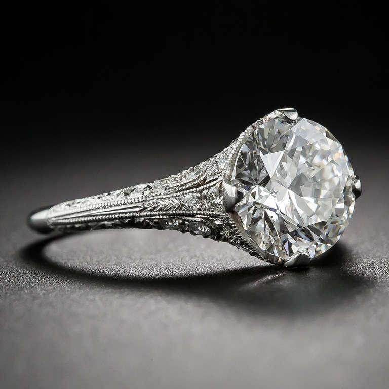 2 36 carat i vs2 edwardian style engagement