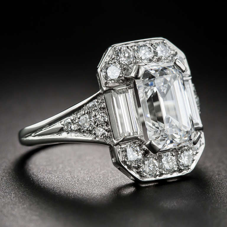 2 45 carat emerald cut ring at 1stdibs