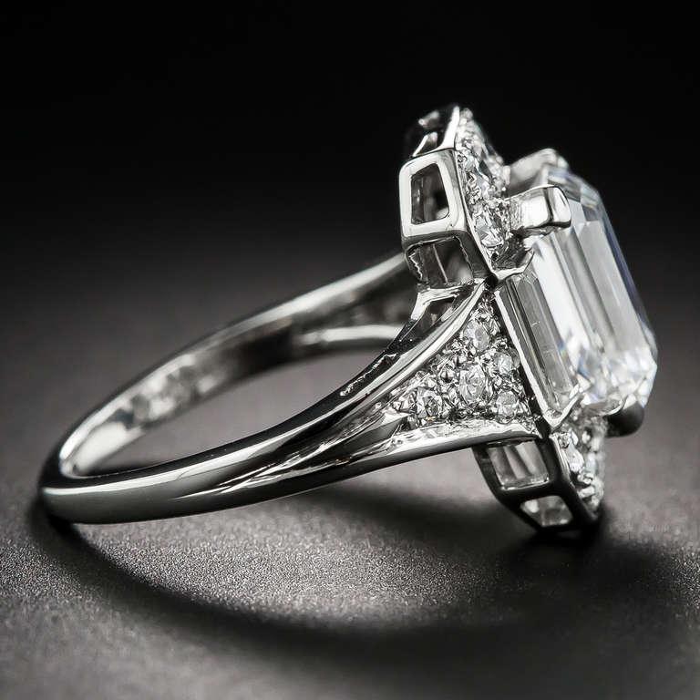 2 45 Carat Emerald Cut Diamond Ring at 1stdibs