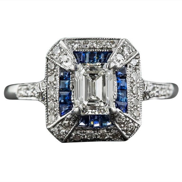 69 Carat Emerald Cut Art Deco Style Diamond And Calibre