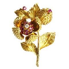 Tiffany & Co.Flower Brooch