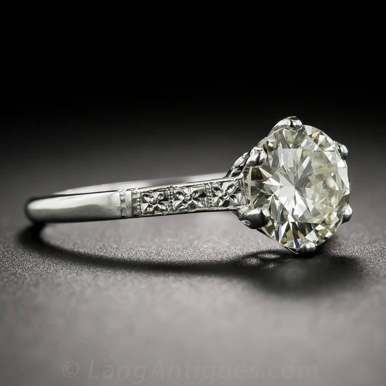 1 85 Carat Diamond Platinum Solitaire Engagement Ring At