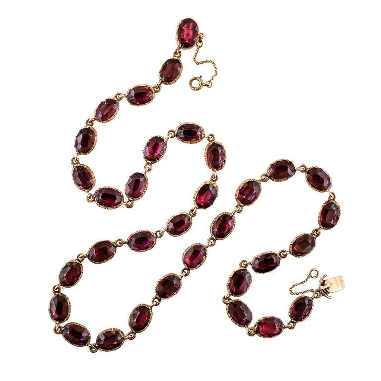 georgian garnet necklace at 1stdibs
