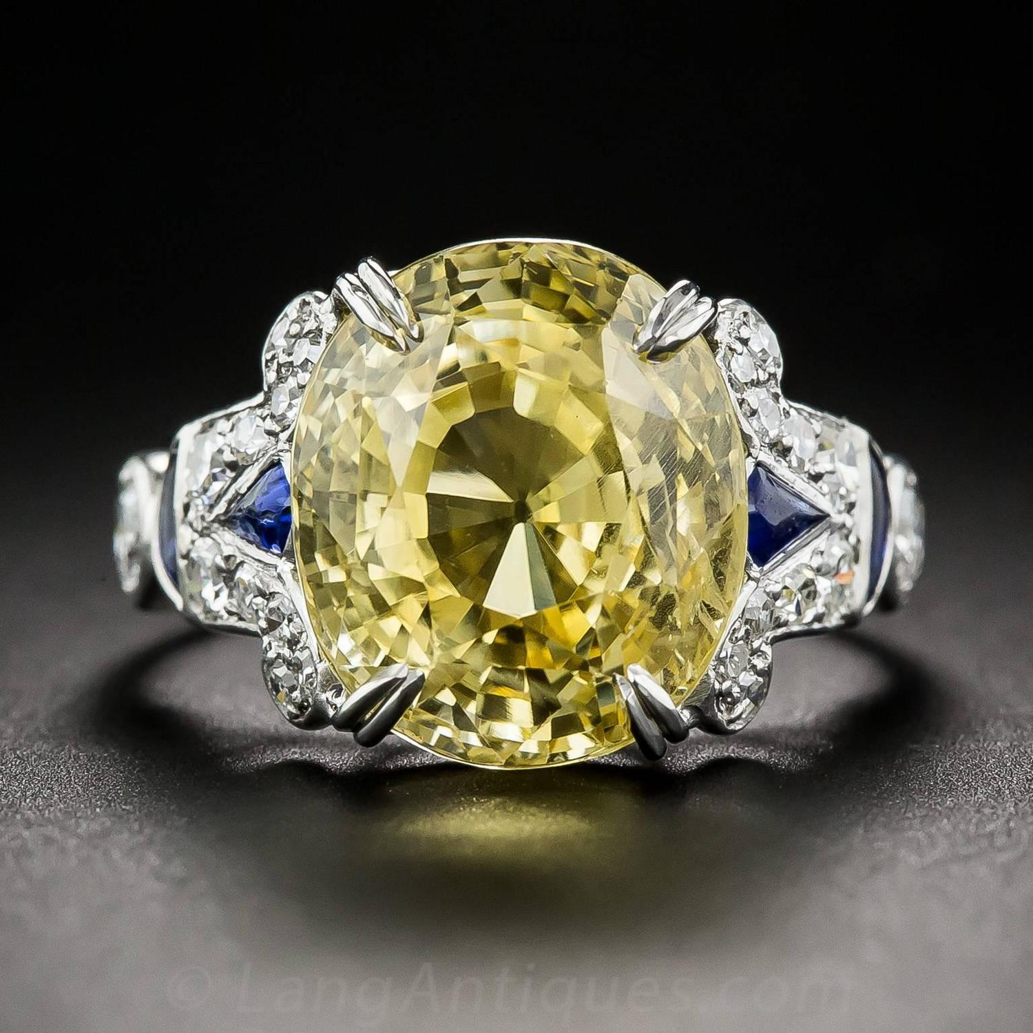12 03 Carat Gia Cert Natural No Heat Yellow Sapphire