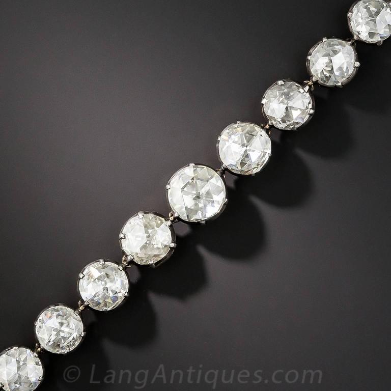 Spectacular 22.50 Carats Rose-Cut Diamonds Bracelet 3