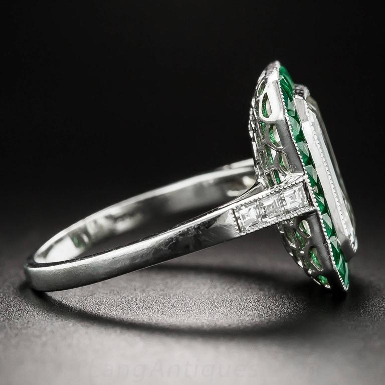 3.00 Carat Emerald-Cut Diamond Emerald Calibre Halo Ring 4