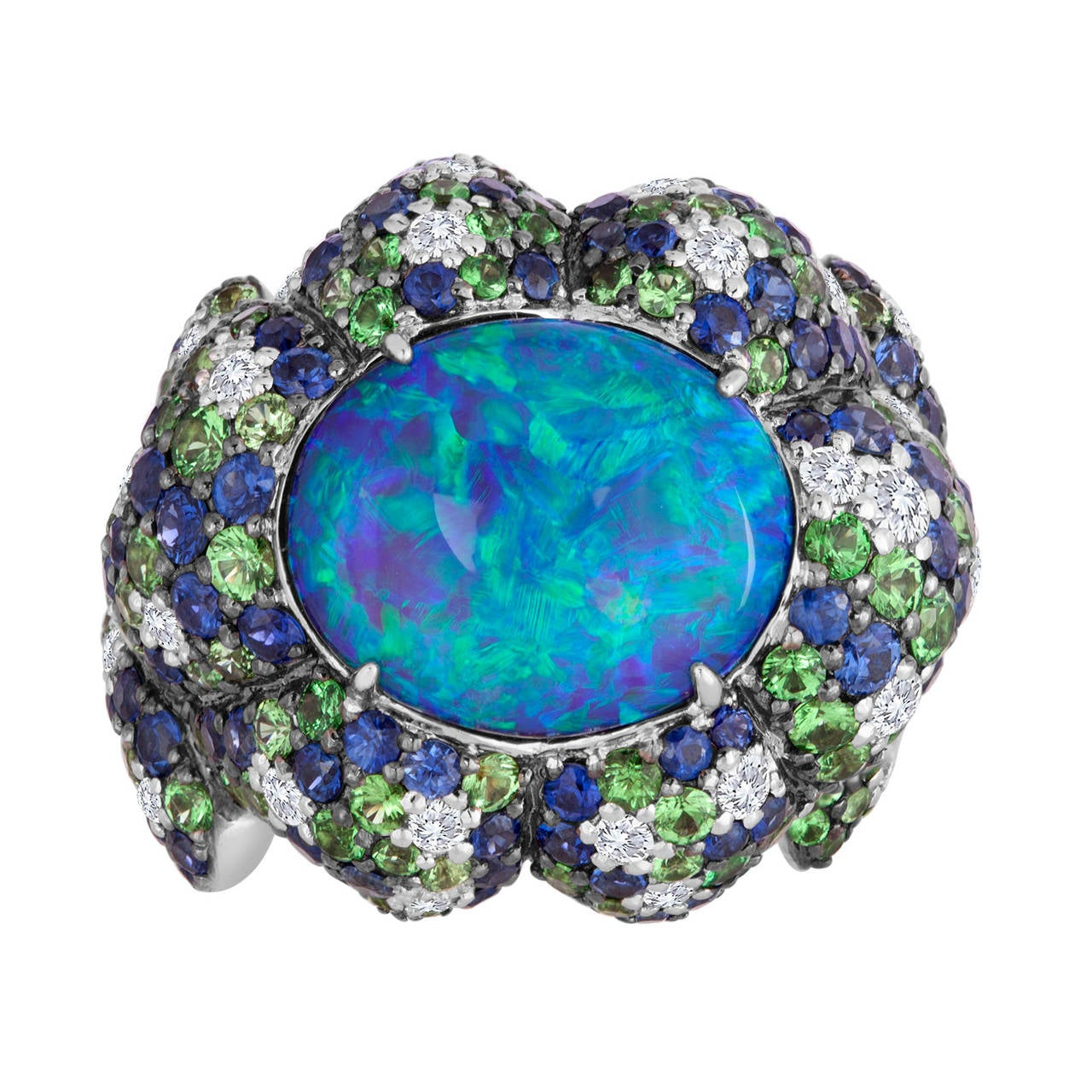 Australian Black Opal Ring For Sale At 1stdibs