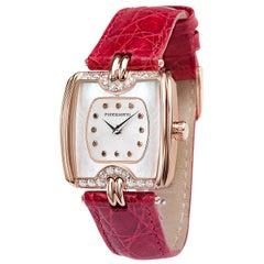 Picchiotti Ladies 18 Karat Rose Gold and Diamond Quartz Wristwatch