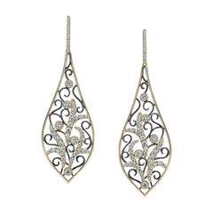 Vintage Inspired Diamond Drop Earrings ER676