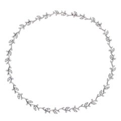 Tiffany & Co. 950 Platinum and Diamonds Garland Choker Necklace