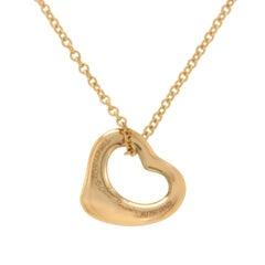 Tiffany & Co. 18 Karat Rose Gold Peretti Open Heart Necklace
