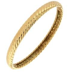 David Yurman 18 Karat Yellow Gold Cable Bracelet