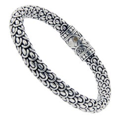 John Hardy 925 Sterling Silver 18 Karat Gold Naga Station Bracelet