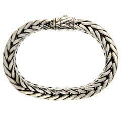John Hardy Silver 925 Woven Chain Bracelet