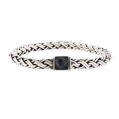 John Hardy 925 Sterling Silver Labradorite Chain Bracelet