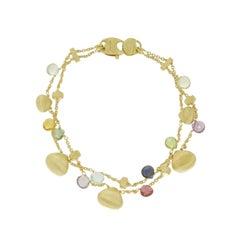 Marco Bicego 18 Karat Yellow Gold Mixed Stone Paradise Bracelet