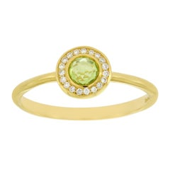 Ippolita 18 Karat Gold Lollipop Mini Peridot and Diamond Size Ring