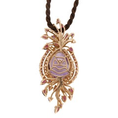Le Vian Purple 14 Karat Gold Crazy Collection Multi-Stone Cord Pendant Necklace