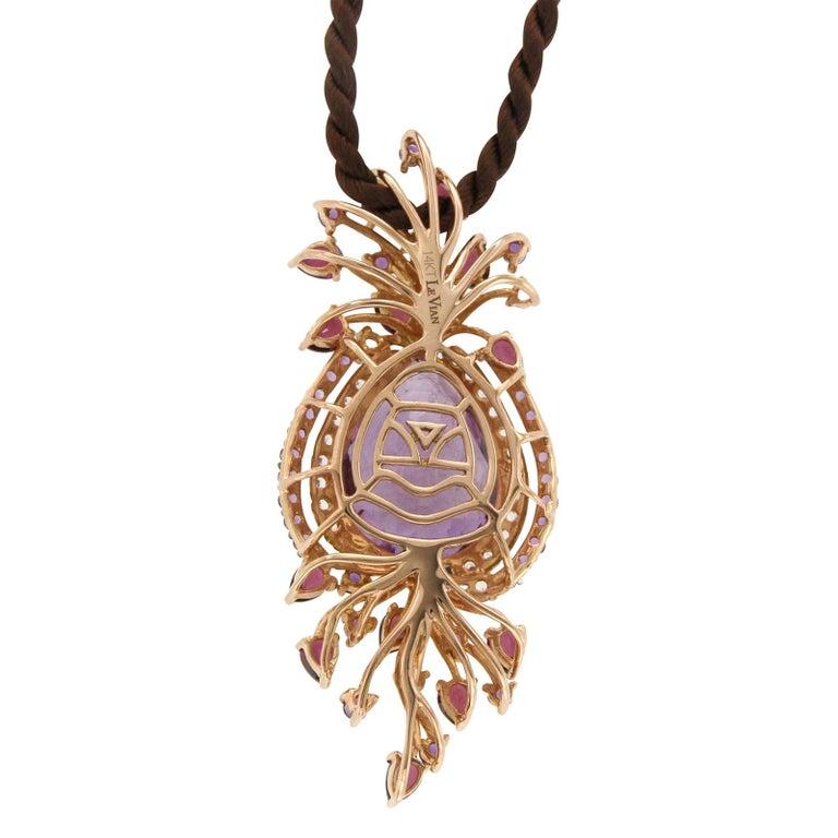 Le Vian Purple 14 Karat Gold Crazy Collection Multi-Stone Cord Pendant Necklace