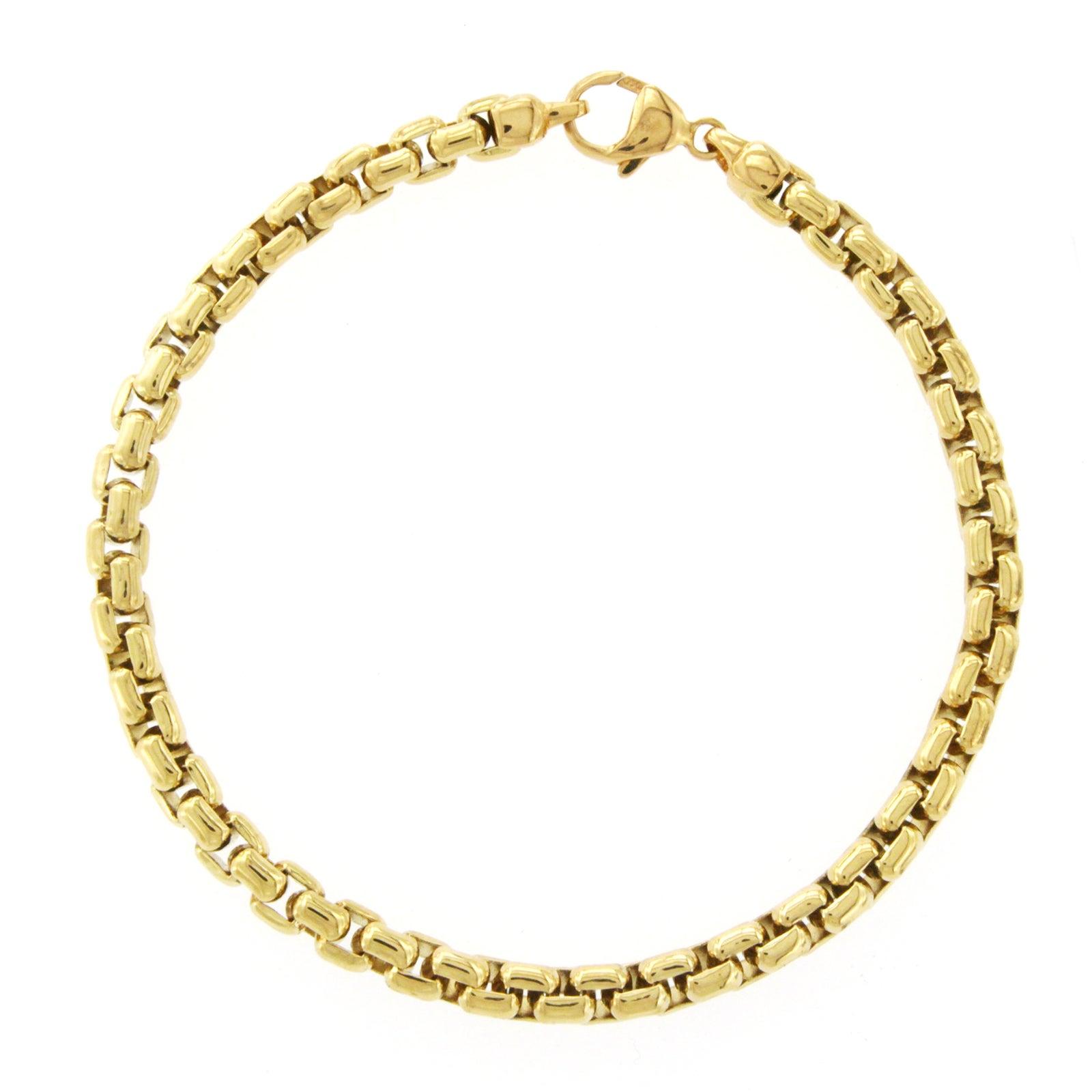 Tiffany & Co. 18 Karat Yellow Gold Box Link Bracelet