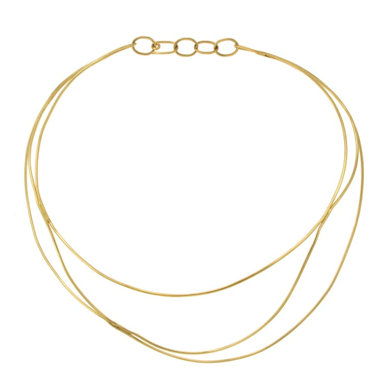 Tiffany & Co. 18 Karat Yellow Gold Elsa Peretti Wire Collar Necklace