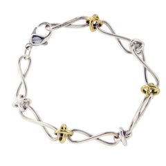 Tiffany & Co. 925 Silver 18 Karat Gold Infinity Picasso Link Bracelet