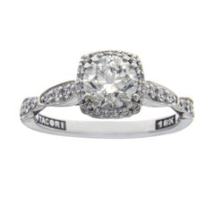 Tacori 18 Karat Gold 1.01 Carat I1 G Diamond Robbins Brothers Engagement Ring