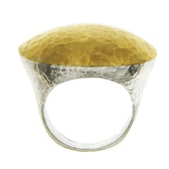 Gurhan 925 Silver and Yellow Gold Dome Ring