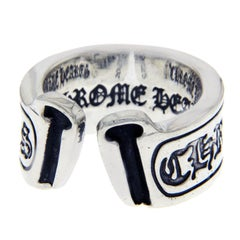 Chrome Hearts 925 Sterling Silver Open Scroll Ring