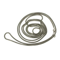 David Yurman 925 Sterling 14 Karat Gold Box Chain Necklace