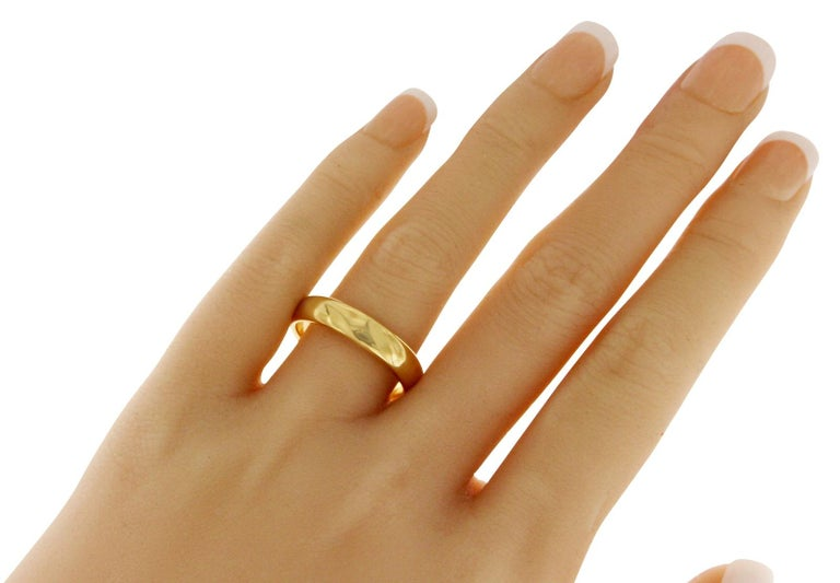 Tiffany And Co 18 Karat Yellow Gold Wedding Band Ring For Sale At