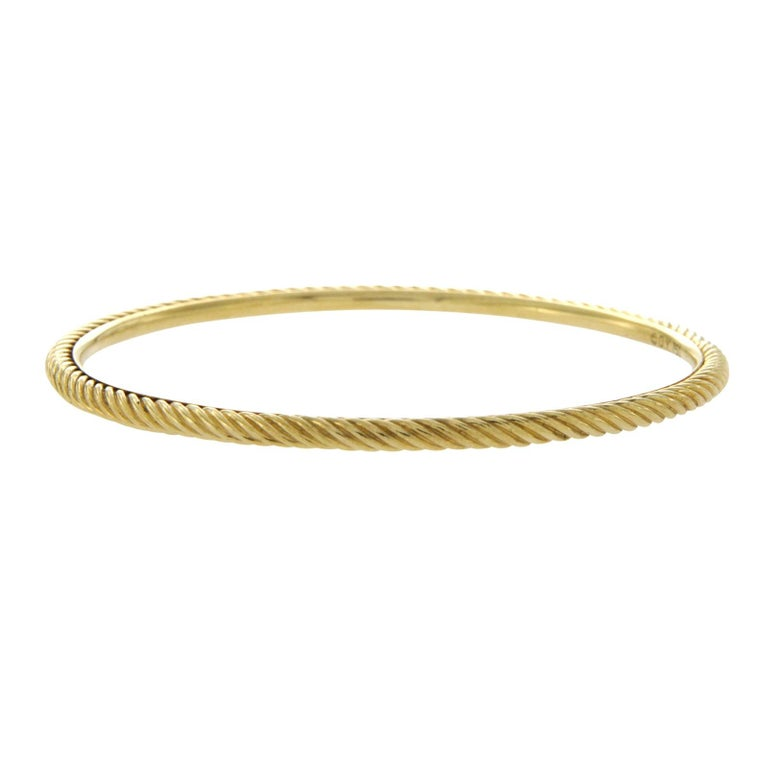 David Yurman 18 Karat Yellow Gold Classic Cable Bracelet