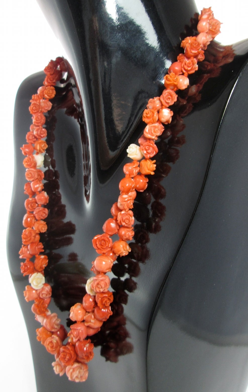 Antique Coral Flower Necklace At 1stdibs