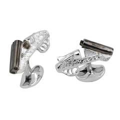 Deakin & Francis Engraved Cocked Gun Cufflinks