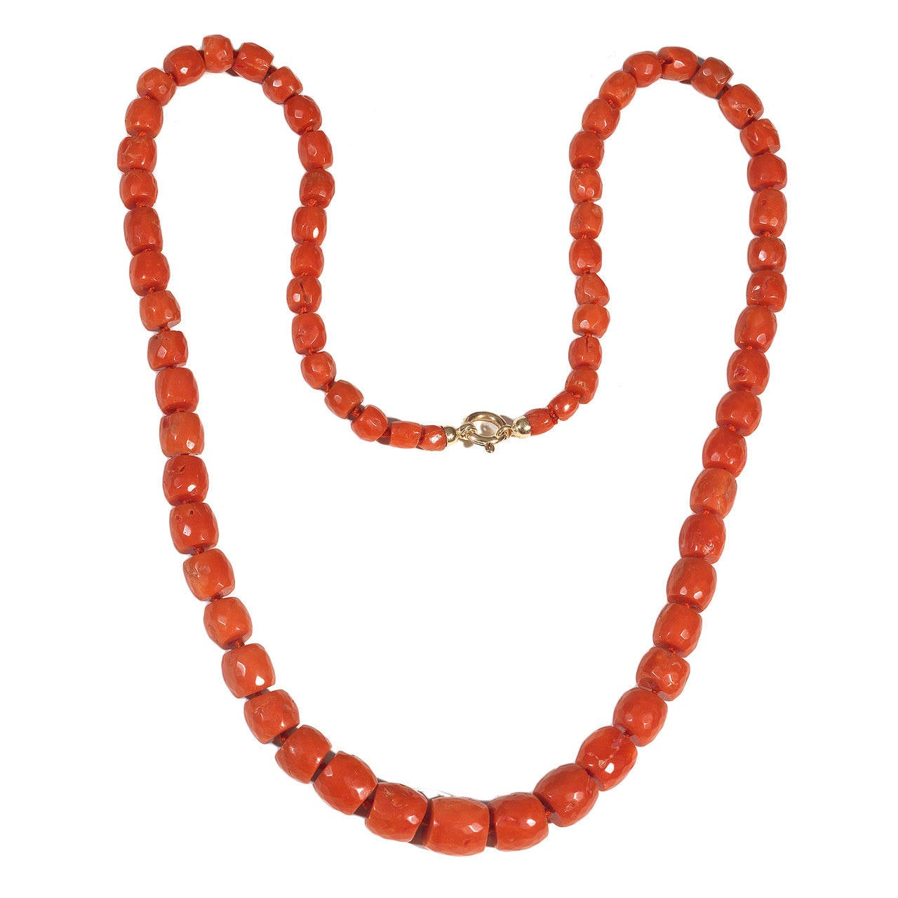 antique coral bead necklace at 1stdibs