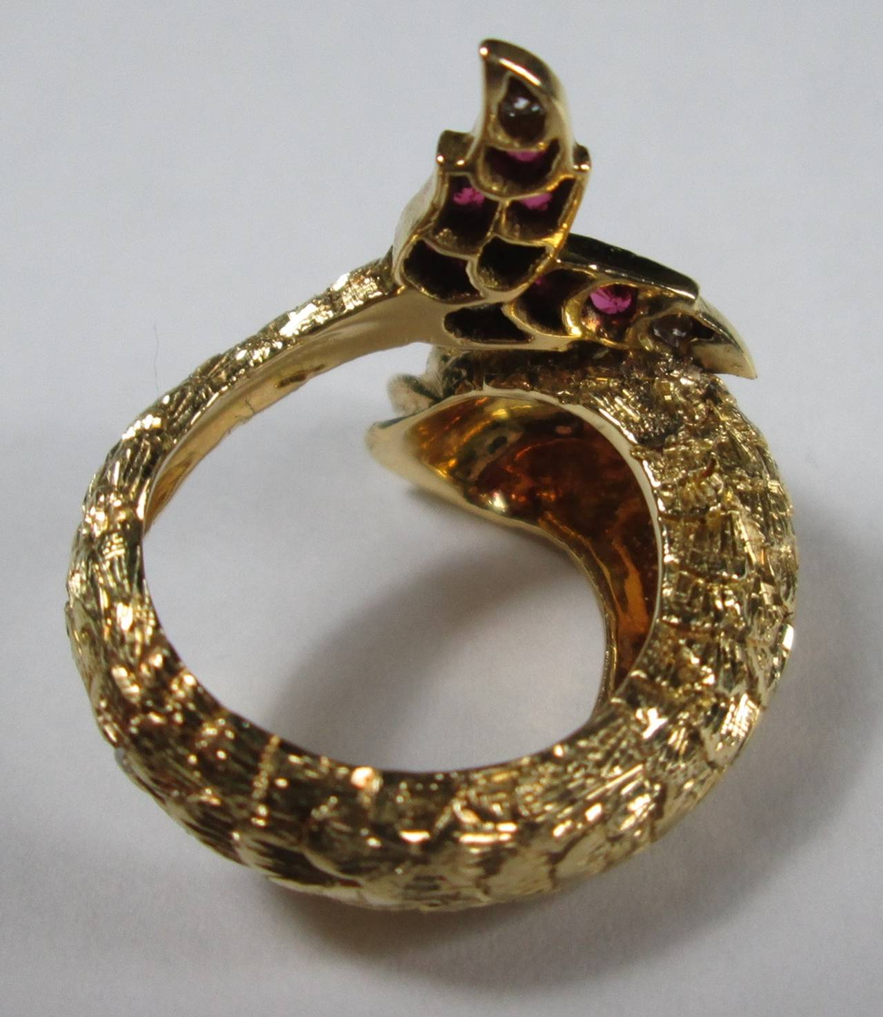 ruby gold dolphin ring at 1stdibs