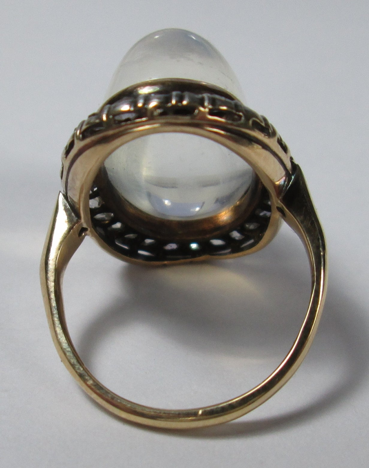 victorian moonstone diamond gold cluster ring at 1stdibs