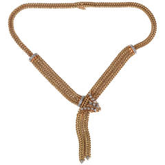 Retro Diamond Gold Necklace