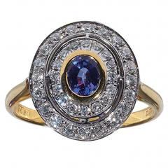 Alexandrite Diamond Gold Ring