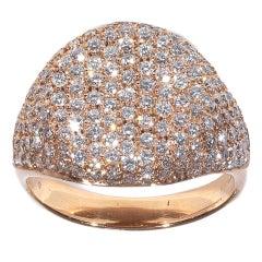 Diamond Pink Gold Chevalier Ring