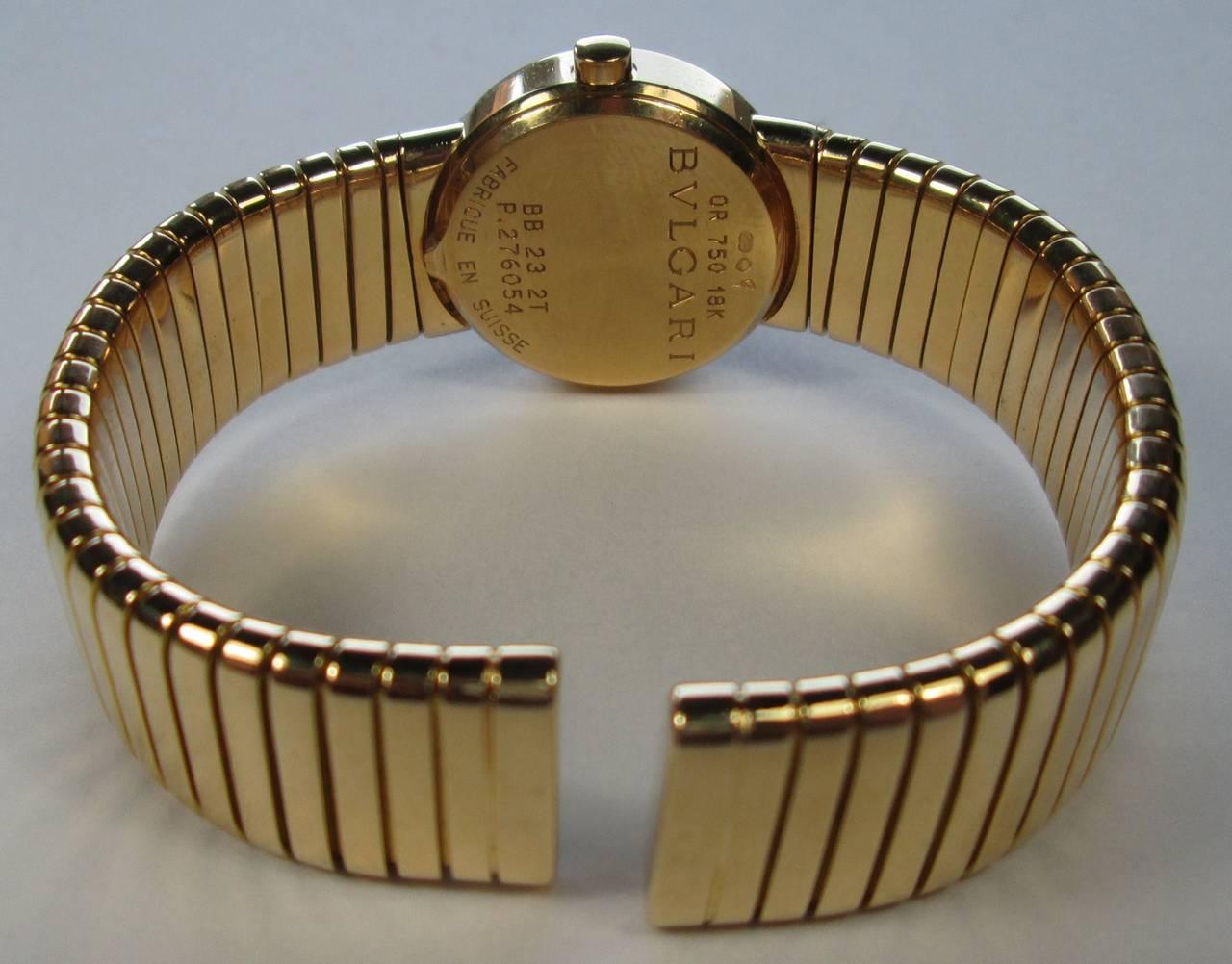 Bulgari Lady's Gold Tubogas Quartz Wristwatch 2
